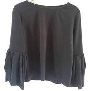 Zara flare sleeve blouse